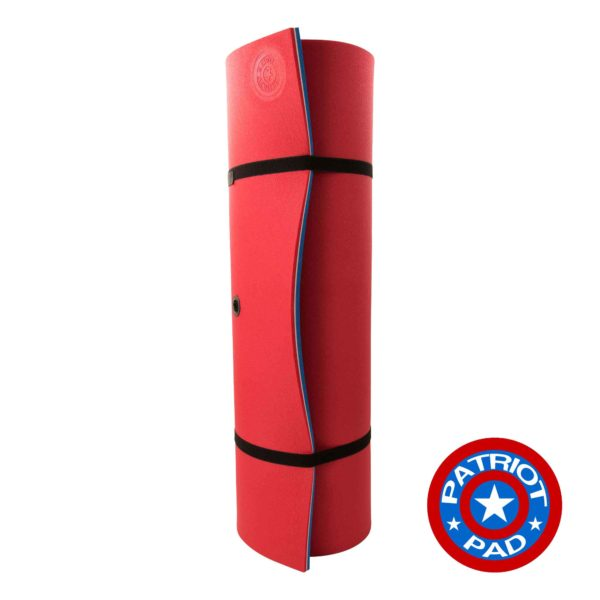 red white blue floating pad