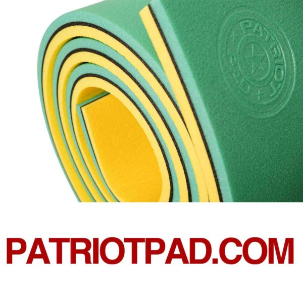 green black yellow floating pad