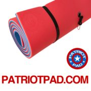 red white & blue floating pad